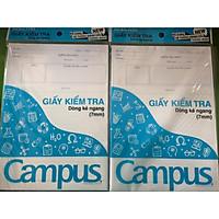 Combo 4 Túi giấy kiểm tra kẻ ngang tặng kèm 1 tập (20 tờ đôi)