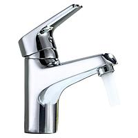 Vòi lavabo nóng lạnh Eurolife EL-3002 (Trắng bạc)