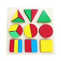 Bảng Gỗ Học Phân Số Thông Minh Theo Phương Pháp Montessori Cho Bé
