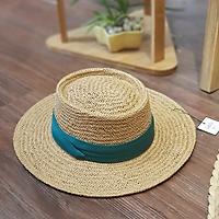 [ Hàng cao cấp] - Mũ cói đi biển dáng porkpie sành điệu