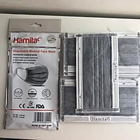 Khẩu trang y tế than hoạt tính Hamita 4 lớp (Bịch 10 cái) Hàng xuất khẩu, màu xám _ chứng nhận ISO13485, CE, FDA