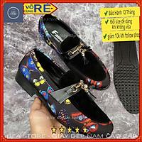 Giày da nam cao cấp kiểu dáng thể thao, Giày mọi nam chất liệu da bò pu họa tiết nổi bật - Mã GEA56
