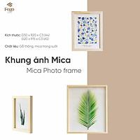 Khung ảnh mica để bàn nhiều kích cỡ/Khung tranh bằng gỗ ép lá trang trí decor nhà cửa