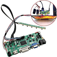 HDMI DVI VGA Audio LCD Controller Board PC Module Driver Modified Computer Display Driver Board  For 1366x768 B156XW02 With  Driver board 1 x Key board 1 x Standard LED screen line 1 x Remote control