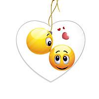 Miếng Sứ Trang Trí In Hình Emoji Nụ Hôn Tình Yêu - Mẫu005