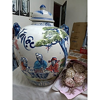 Chum đựng rượu gốm sứ Bát Tràng vẽ cảnh loại 30L