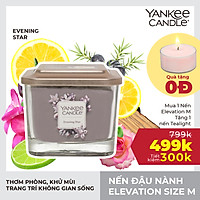 Nến ly vuông Elevation Yankee Candle size M - Evening Star (347g)