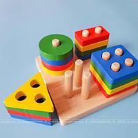 Đồ chơi phân loại hình khối màu sắc cho bé