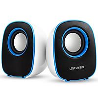 Loyal (LOYFUN) I80 Mini Speaker Multimedia Notebook Desktop Computer Desktop Sound Colorful Glare Mobile Phone Portable Subwoofer (Blue)