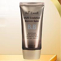 BBCream Re:Excell 4 in1 Hàn Quốc Multi Gradation Blemish Balm R&B kem nền, kem lót trang điểm, che phủ khuyết điểm, chống nắng, bật tone da sáng mịn tự nhiên, không bí bết, không lộ vân kem, 50ml
