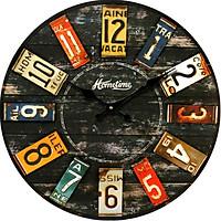 Đồng hồ treo tường size to Vintage Phong cách Châu Âu hình tròn DH16 Số đơn giản