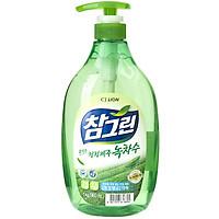 Nước Rửa Rau Quả Và Chén Bát CJ Lion Real Green Tinh Chất Trà Xanh 1 Kg