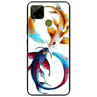 Ốp lưng dành cho Realme C15 mẫu Cá Chép Xanh Vàng