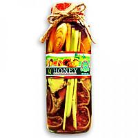 Mật ong rừng ngâm thảo dược quí - trị ho, viêm họng, thải độc tố đẹp da (300ml)