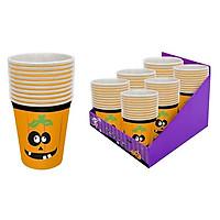 Ly Dùng Tiệc Bí Ngô 250ml 12 Cái - Đồ dùng tiệc Halloween UBL UH03004
