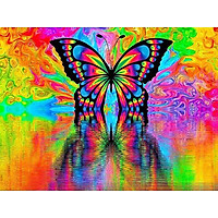 Bimkole 5D Diamond Painting Butterfly Full Drill DIY Rhinestone Pasted with Diamond Set Arts Craft Decorations (12x16inch)