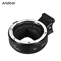Andoer EF-NEX IV Lens Mount Adapter Ring High Speed Digital Auto Focus Compatible with Canon EF/EF-S Mount Lens to Sony