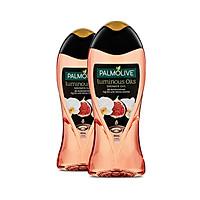 Bộ 2 sữa tắm dưỡng ẩm Palmolive Luminous tinh dầu thiên nhiên từ trái vả và hoa lan trắng 400ml