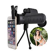Ống nhòm gắn điện thoại 40x60 Telescope nhìn siêu xa, tặng kèm tripod+giá đỡ điện thoại 206763