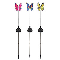 Garden Solar Light Outdoor Multi-Color Changing LEDs Butterfly-Lights Decorative Lamp