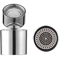 Đầu vòi nước tăng áp, xoay 360 độ, hai chế độ nước N023 (kèm bộ ren chuyển đổi 6 món)
