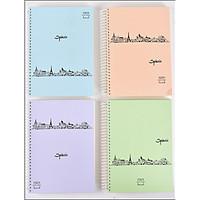 Sổ vở lò xo kẻ ngang bìa cứng Spazio B5 320 trang 18,5x26,5cm - 1 cuốn - hình ngẫu nhiên