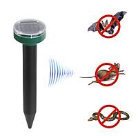 Solar Mole Repellent Sonic Deterrent Repeller Snake Rodent Gopher Chaser Pest Control for Lawn Garden Yard Home