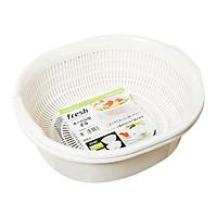 Bộ Rổ Nhựa Kèm Chậu - Trắng (5.3L)