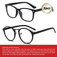 2pack Glasses in TR90 Frame with Anti Radiation for Men/blue light/computer eyewear/replaceable optical lens