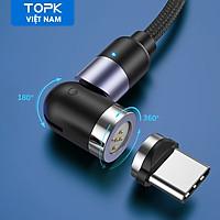Cáp sạc từ TOPK AM66 USB to Type-C Cáp Sạc Nhanh Cáp Dữ Liệu Cáp Sạc Nylon Dành Cho Xiaomi HUAWEI OPPO Vivo - Hàng chính hãng