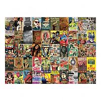 Set 50 tấm 22x30cm decal dán tường trang trí decor quán nhà cửa chủ đề Cổ Điển - VINTAGE