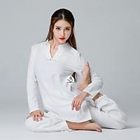 Bộ đồ tập yoga, đồ ngồi thiền, đi chùa, trang phục cổ trang Zambala - Bộ nữ cổ V