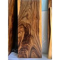Mặt bàn gỗ me tây nguyên tấm KT 4.5x60x140cm