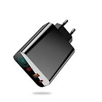 Cóc củ sạc nhanh 45W đa năng hẹn giờ 2 cổng USB và Type-C hiệu Baseus Speed PPS Smart Shutdown ( 5A - 45W, sạc nhanh chuẩn QC4.0/ QC3.0 / PD / SCP/ Quick charger, Timer Auto Power Off) - Hàng chính hãng