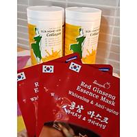 Combo 2 Sữa nghệ Hera Collagen 500Gr + Tặng Mask Sâm Hàn Quốc - Hỗ trợ tiêu hóa, đau bao tử, người già, phụ nữ sau sinh, người cần phục hồi sức khỏe, sau phẫu thuật, dưỡng da, làm đẹp