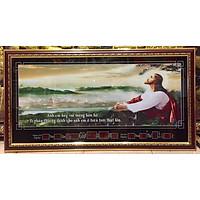 Tranh đồng hồ vạn niên, Chúa Giesu cầu nguyện - 8604