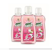Combo 03 nước súc miệng trẻ em DentFatis - Chai 250 ml