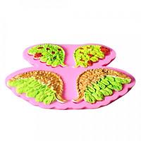 Khuôn Silicon Làm Bánh Kẹo Trang Trí Hình Cánh Thiên Thần 3D
