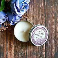 Nến thơm sáp ong hộp thiếc oải hương Ecolife - Aroma Candles Bees Wax Lavender
