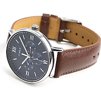 Đồng hồ Dây Da Nam Timex  Southview 41mm Silver-tone Case Blue Dial Brown Leather Strap - TW2T35100