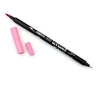 Bút lông hai đầu màu nước Marvy LePlume II 1122 - Brush/ Extra fine tip - Bubblegum Pink (67)