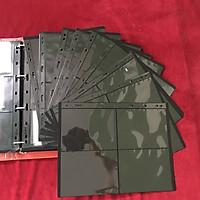 Combo 10 phơi 4 ngăn đen dọc, có 2 mặt, chất liệu nhựa tổng hợp dẻo dai, bền chắc, dùng để đựng tem, tiền, vật dụng sưu tầm hữu ích - SP01143