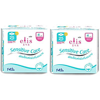 Combo 2 Gói Băng Vệ Sinh Elis Sensitive Care RP 25cm (14 Miếng / Gói)