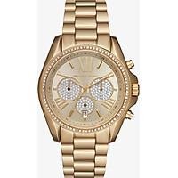 Đồng Hồ Nữ Dây Kim Loại Michael Kors Bradshaw Pavé Gold-Tone Watch MK6538 (43mm)