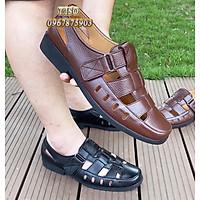 giày nam da thật thoáng khí đế cao su khâu siêu bền - r1