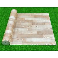 Thảm nhựa simili trải sàn vân gỗ nổi bật màu xám bạc siêu bền, chống nước tuyệt đối