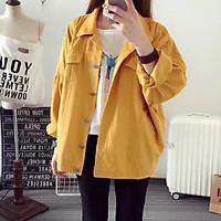 Áo Khoác Kaki Nam Nữ Màu Vàng Thời Trang Tina
