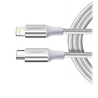 Cáp usb type c ra lightning 2.0 màu trắng 1.5m Ugreen 304OL70524US Hàng chính hãng