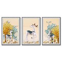 Decal dán tường bộ 3 khung tranh đẹp Tipo_002