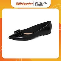 Giày búp bê Biti's mũi nhọn phối nơ  SBW005388DEN (Đen)